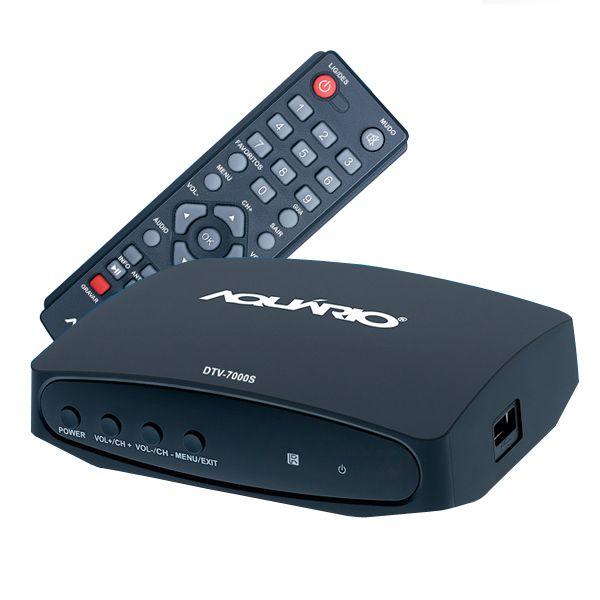 Antena Digital UHF 4K Log 28 Elementos Capte E Conversor e Gravador Digital Aquário DTV 7000S
