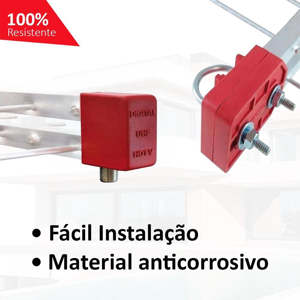Antena Digital Uhf 4k Log 38 Elementos Capte Longo Alcance - PDI