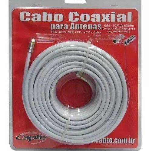 Antena Digital Uhf 4k Log 38 Elementos Mastro 45 + Cabo 15m