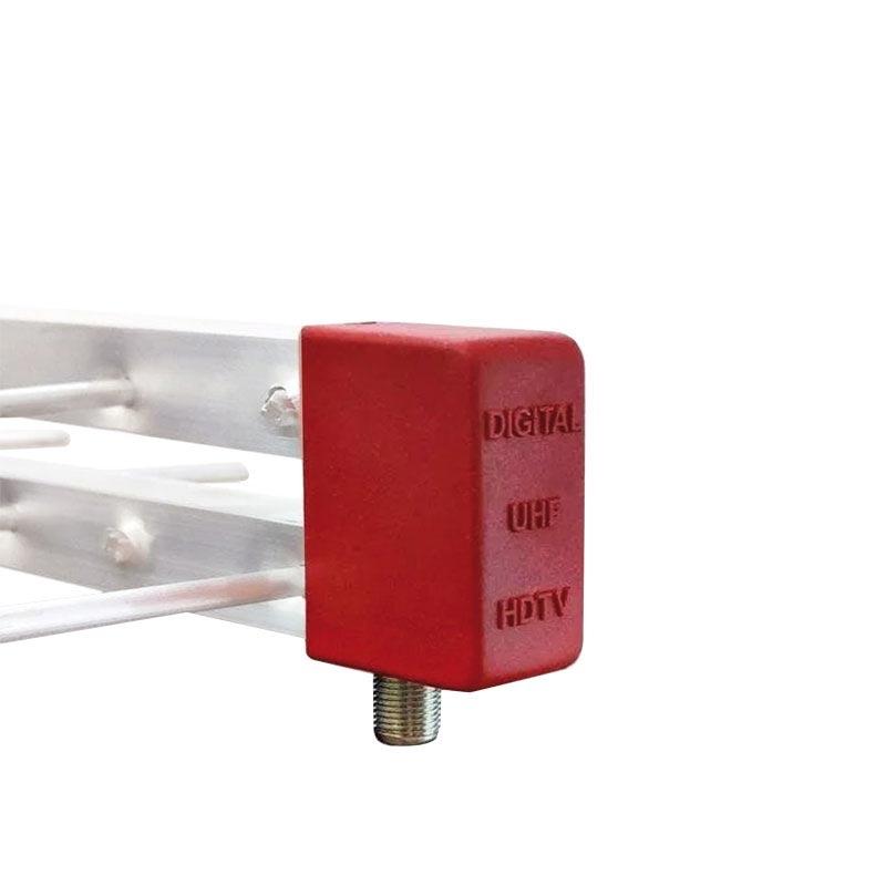 Antena Tv Digital 4K Externa UHF Digital Log 16 Elementos  + Divisor 3X1
