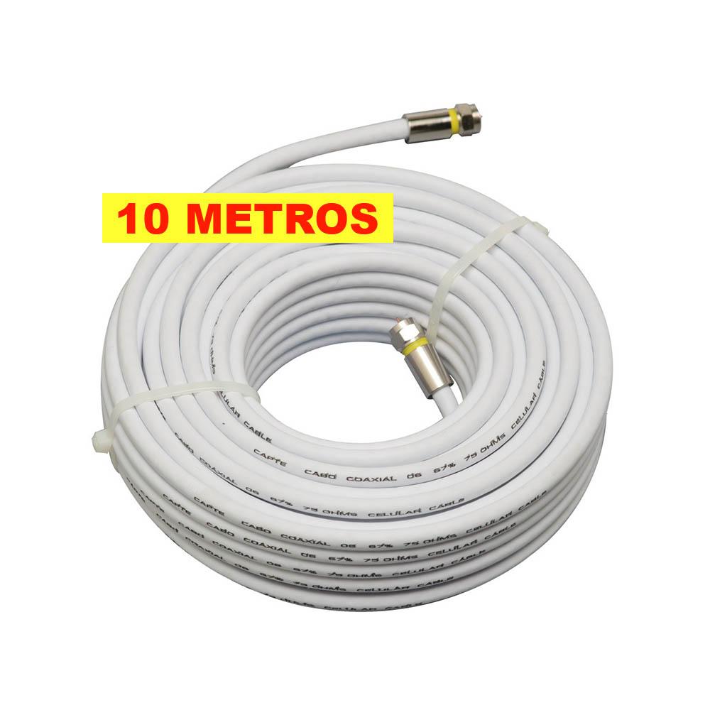 Antena Tv Digital 4K Externa UHF Digital Log 16 Elementos e Cabo 10mts