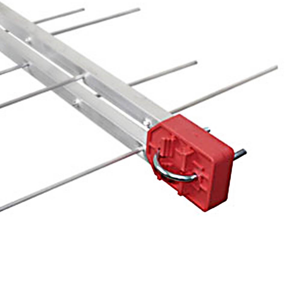 Antena Tv Digital 4K Externa UHF Digital Log 16 Elementos e cabo coaxial 5 metros