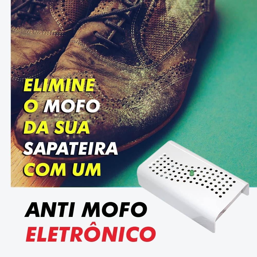 Anti Mofo Eletrônico Desumidificador 110V - branco 2u. Repel Mofo Anti-Ácaro e Fungos