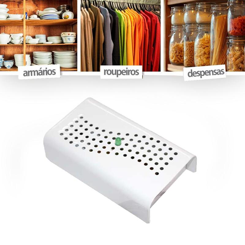 Anti Mofo Eletrônico Desumidificador 110V - Branco 3u Anti Mofo Anti-Ácaro e Fungos