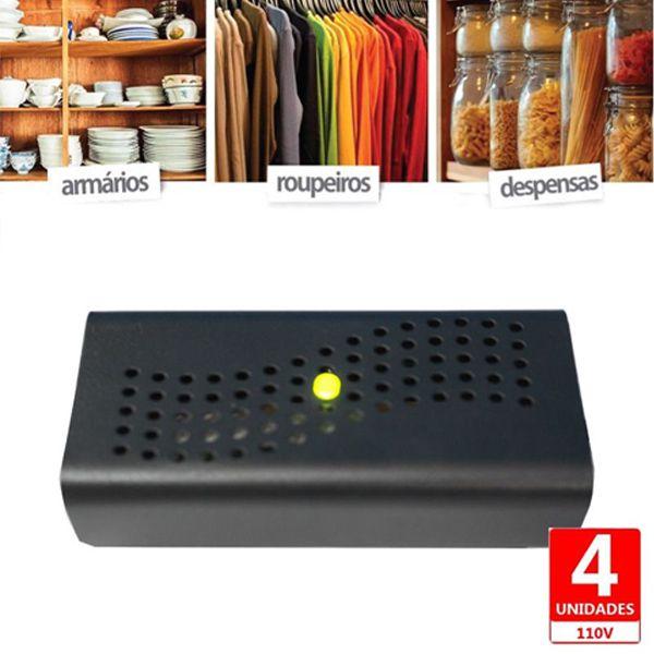 Anti Mofo Eletrônico Desumidificador 220V - preto 4u. Repel Mofo Anti-Ácaro e Fungos