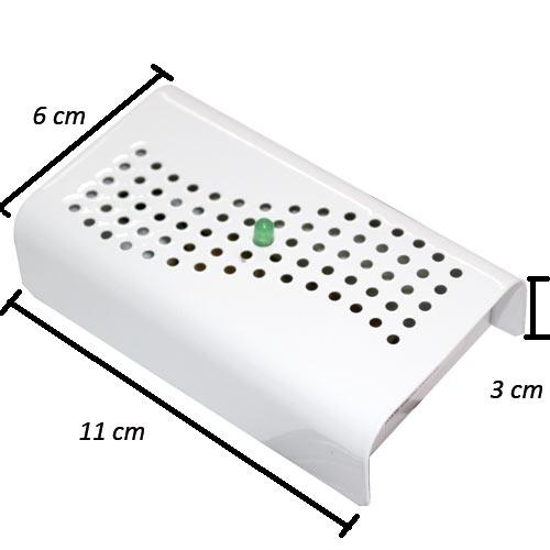 Anti Mofo Eletrônico R14 110V kit 5 unid. Branco Repel Mofo Anti-Ácaro e Fungos Desumidificador Capte