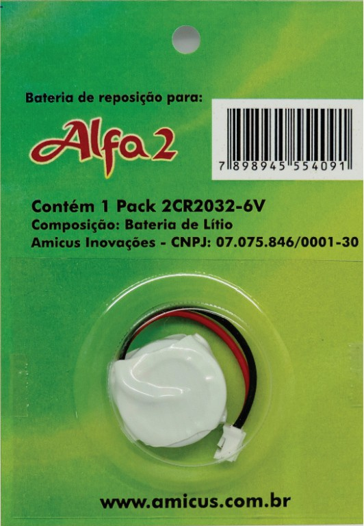 Bateria Amicus para Coleira Antilatido Alfa 2