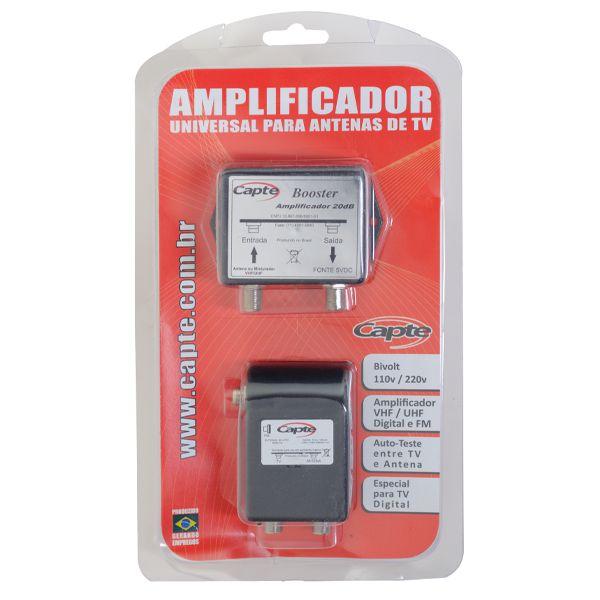 Booster Amplificador de Antena Uhf Digital 20dB Capte Bivolt