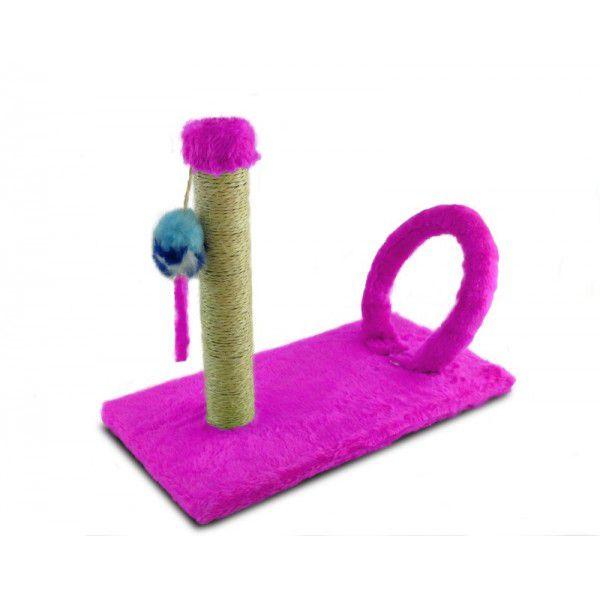 Brinquedo Arranhador para Gatos Cat Arco Retangular Rosa