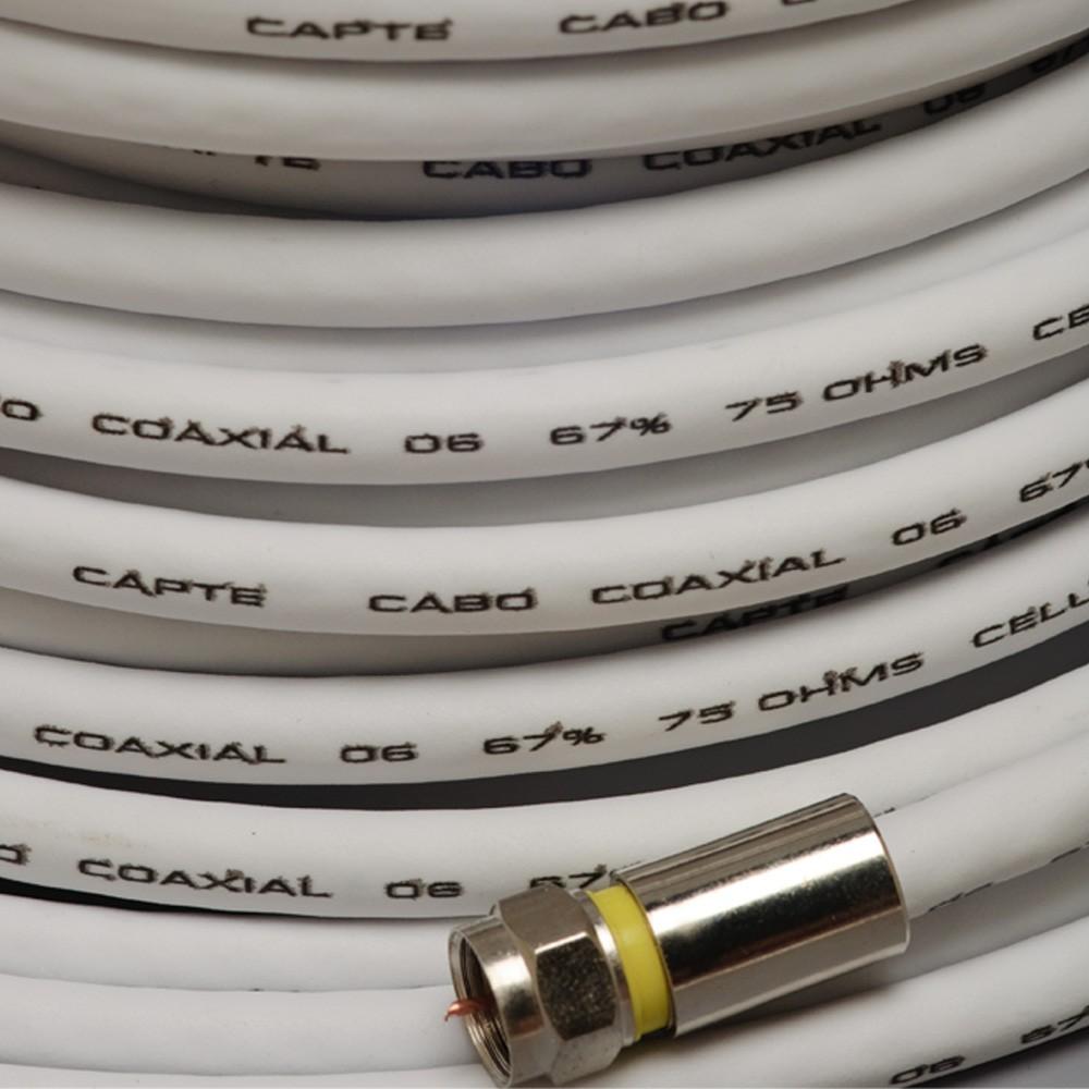 Cabo Coaxial Capte Antena Digital - 5 metros