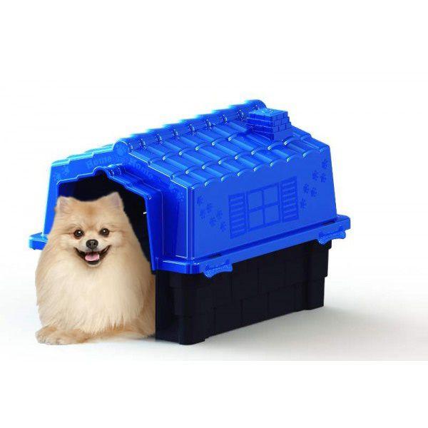 Casa de Cachorro Casinha prime Colors Dog House Evo Pequena N2 cor azul - Plástico