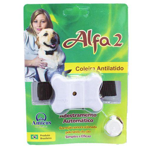 Coleira Anti-Latido Alfa 2 Branco