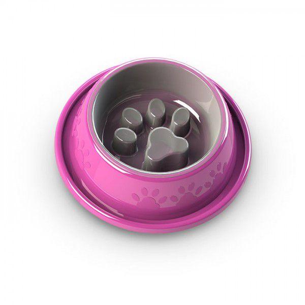 Comedouro Alimentador Coma Melhor Grande 5x1 Facility Rosa