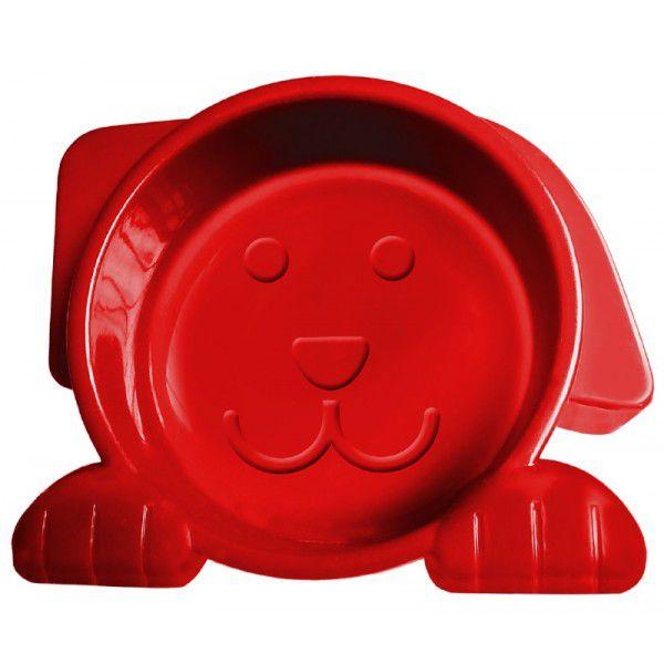 Alimentador Comedouro para Cachorro Dog Face Vermelho 600ml