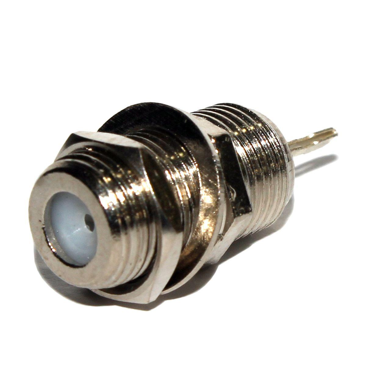 Conector F Femea Painel - RG6 - Ótima Qualidade - 100 pcs