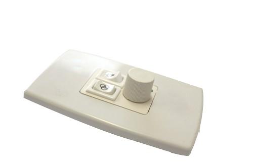 Controle Triplo de Ventilador - Dimmer, Lâmpada e Exautor - Espelho