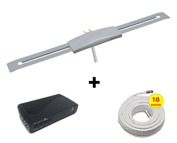 Conversor Digital Imagevox ADV-ISDBT06 Hdmi-usb + Capte prata + 10 metros