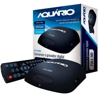 Conversor Digital Dtv 5000 Aquario Hdmi-usb + Capte Grafite