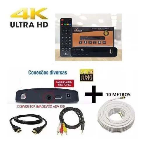 Conversor Digital Imagemvox + Cabo 10 Metros Capte