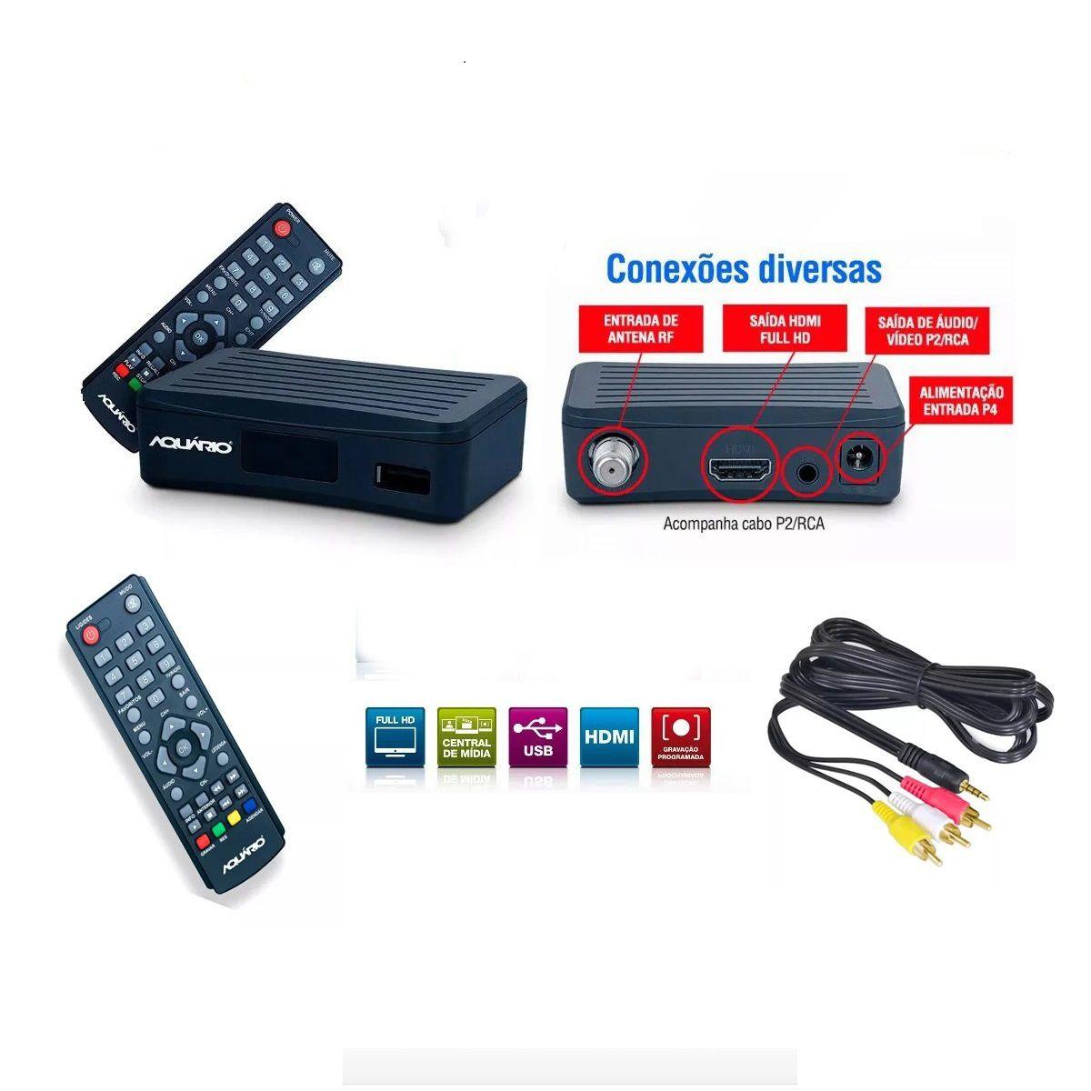 DTV-4000 Conversor e Gravador Digital Mini de TV Full HD