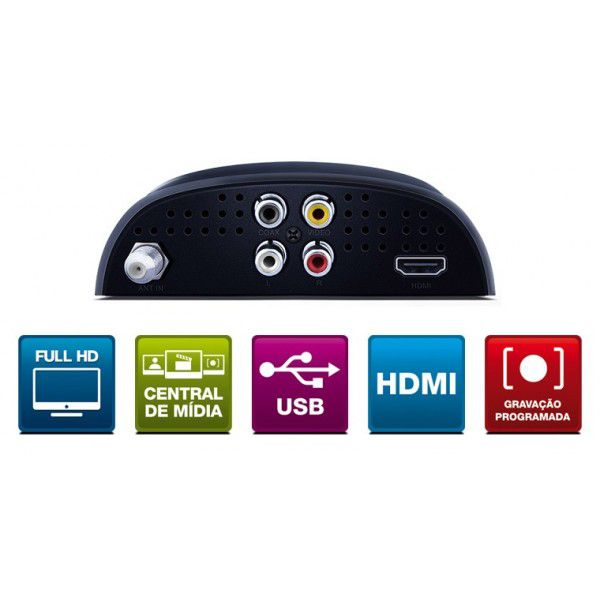 DTV-5000 Conversor e Gravador Digital de TV Full HD