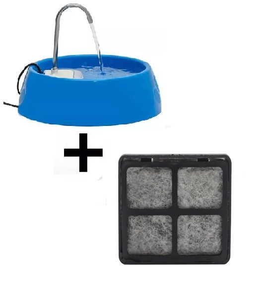 Fonte Bebedouro E Purificador Aqua Mini Bivolt - Azul + Brinde