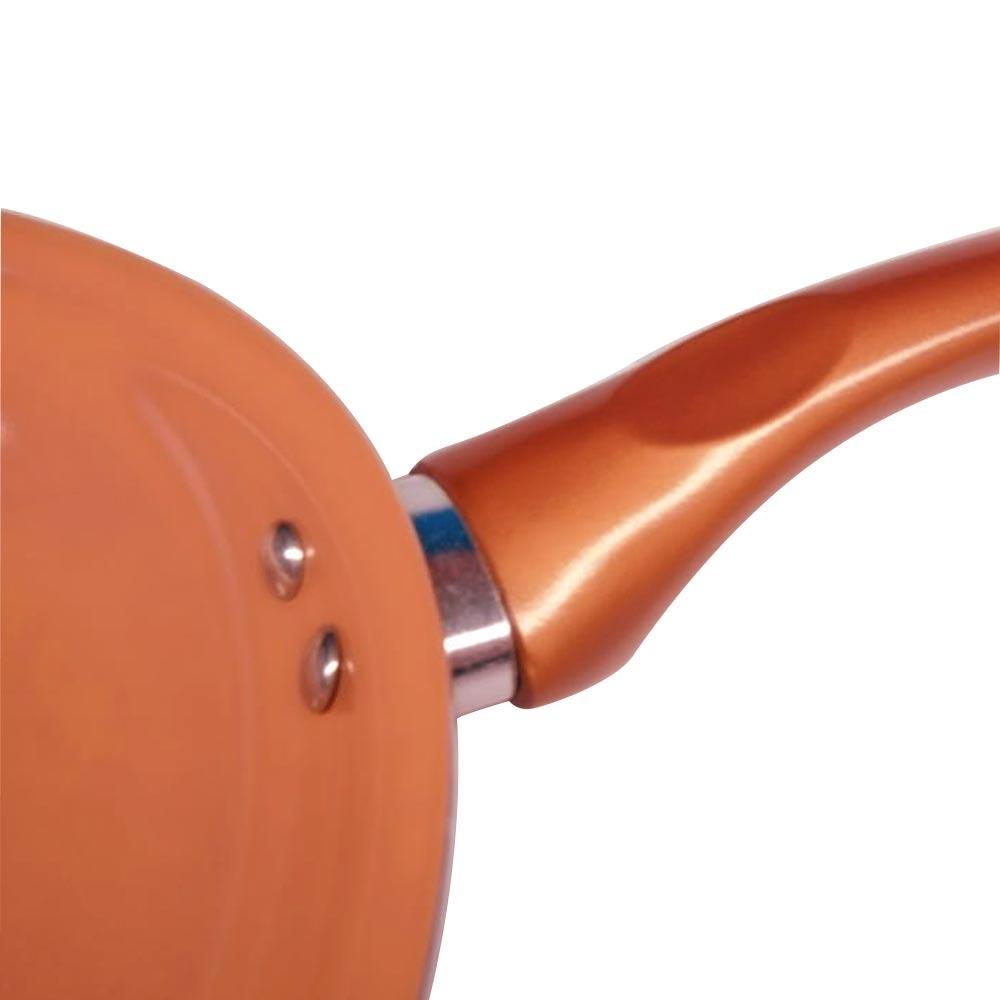 Frigideira Antiaderente Cerâmica cor  Cobre 20cm cabo silicone