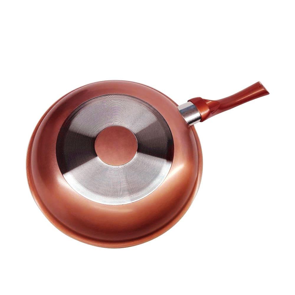 Frigideira Antiaderente  Cerâmica cor  Cobre 24cm cabo Silicone