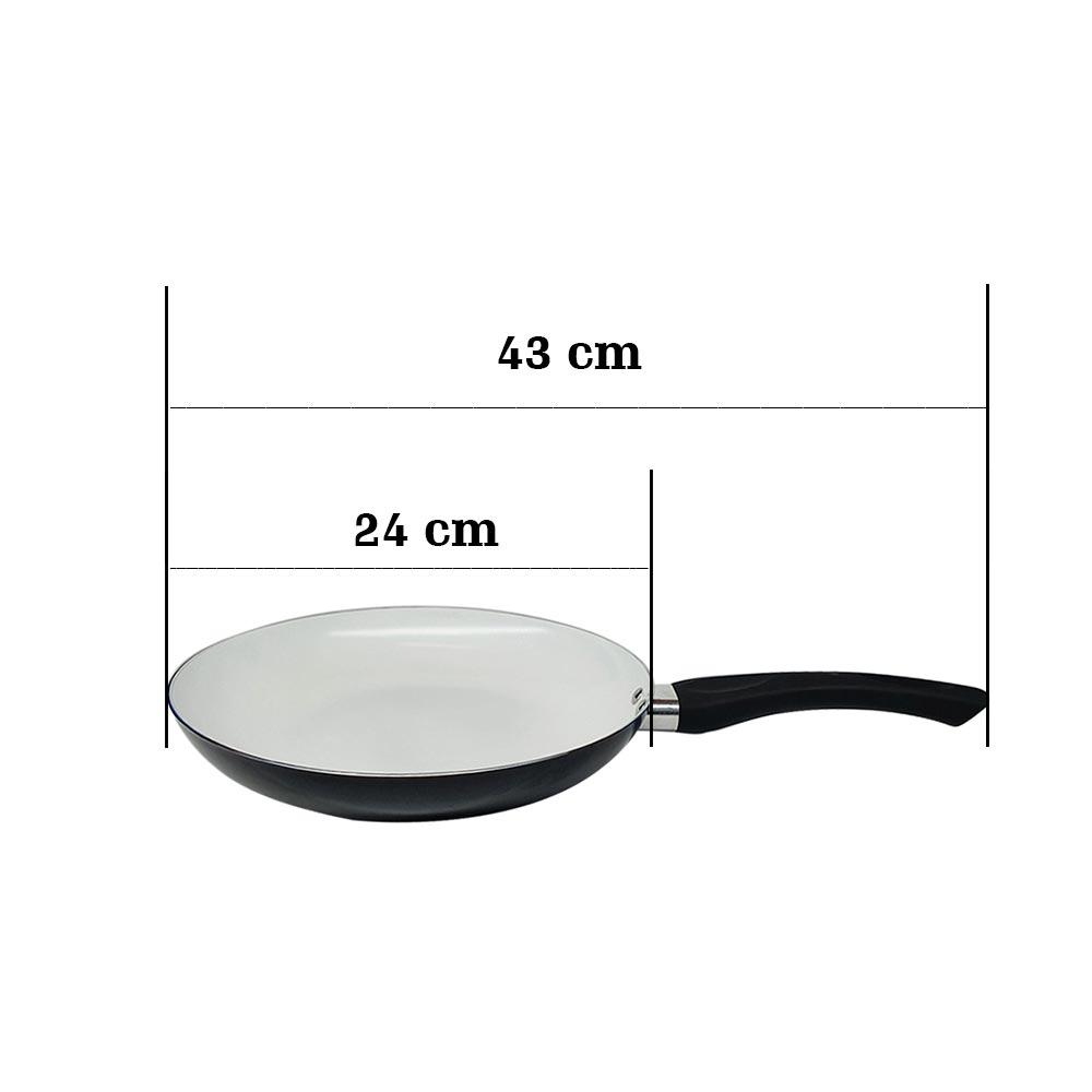 Frigideira de cerâmica antiaderente 24 centimetros Preto