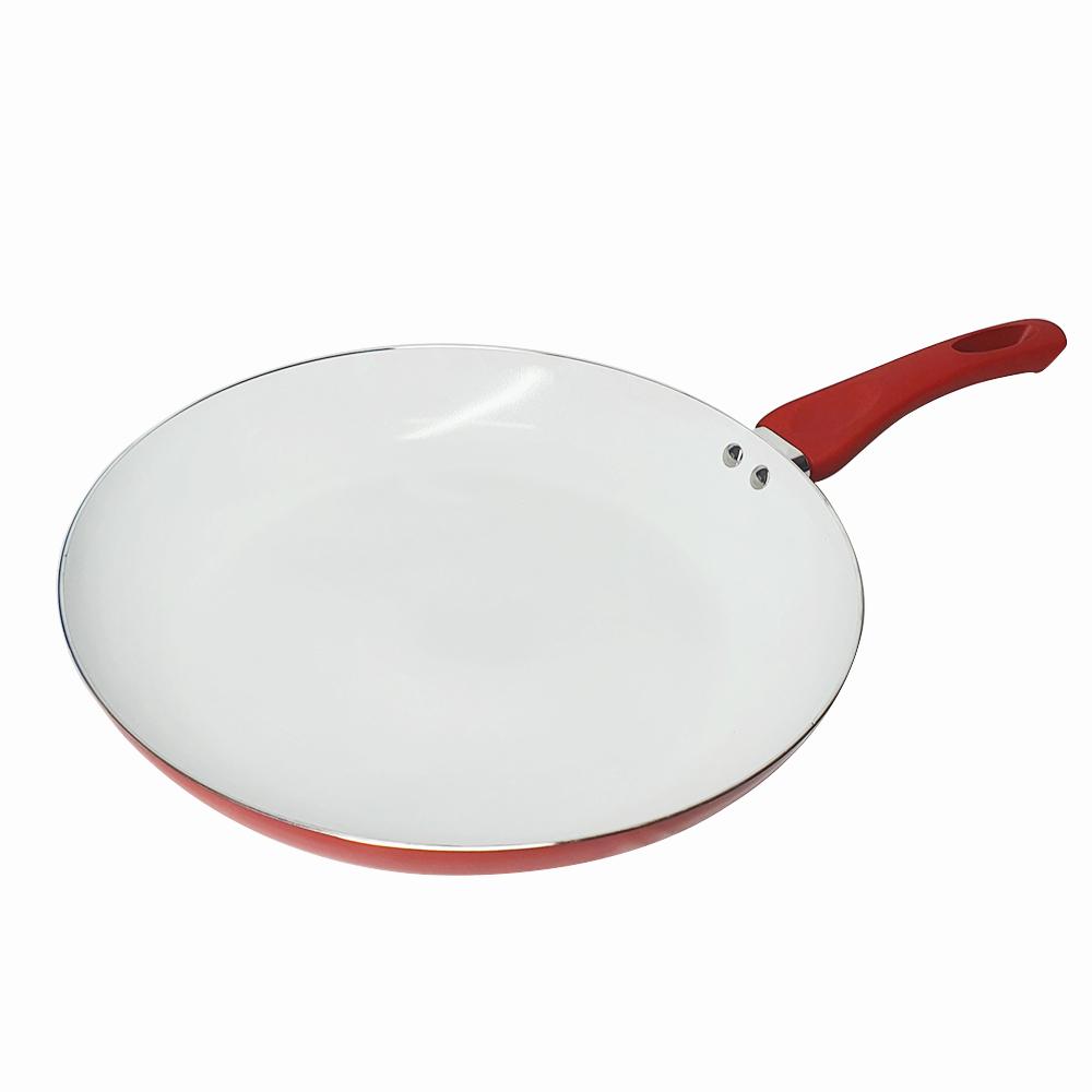 Frigideira de cerâmica antiaderente 24 centimetros vermelha