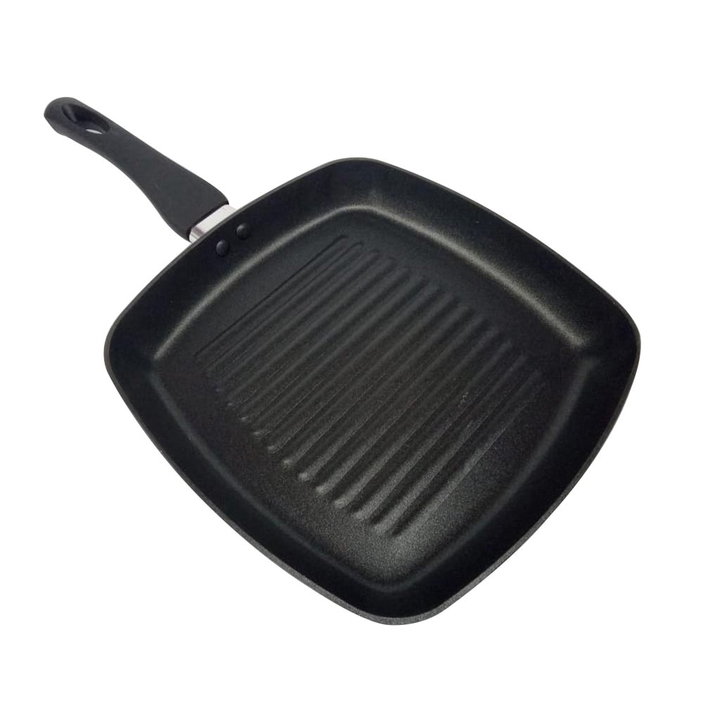 Frigideira Chapa Ondulada Grill Teflon Grelhar Sem Gordura 24cm