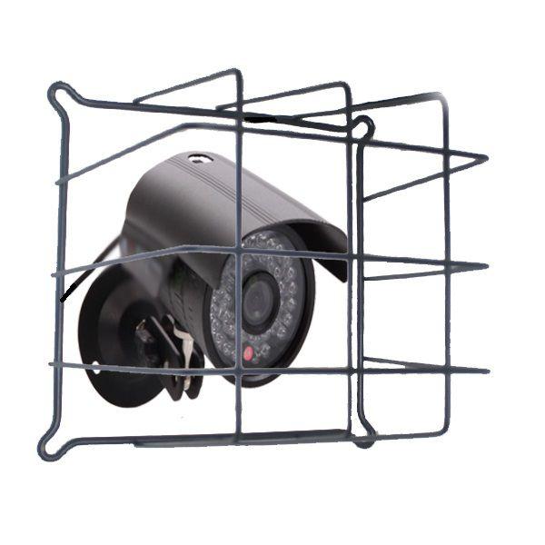 Grade de Proteção de Câmeras de Segurança Capte Protetor Preta - 6 Unidades