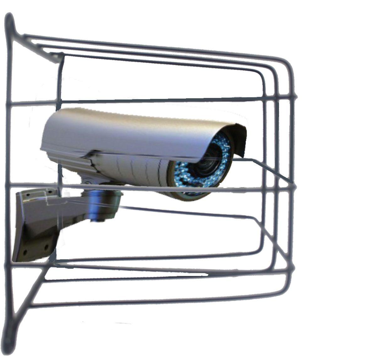 Grade de Proteção de Câmeras de Segurança Capte Protetor Preto - 10 Unidades