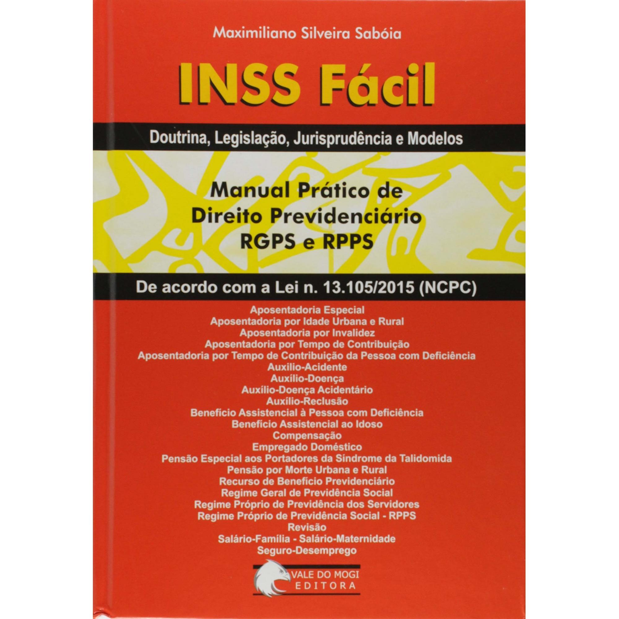 Livro Manual INSS Fácil Prático de Direito Previdenciário