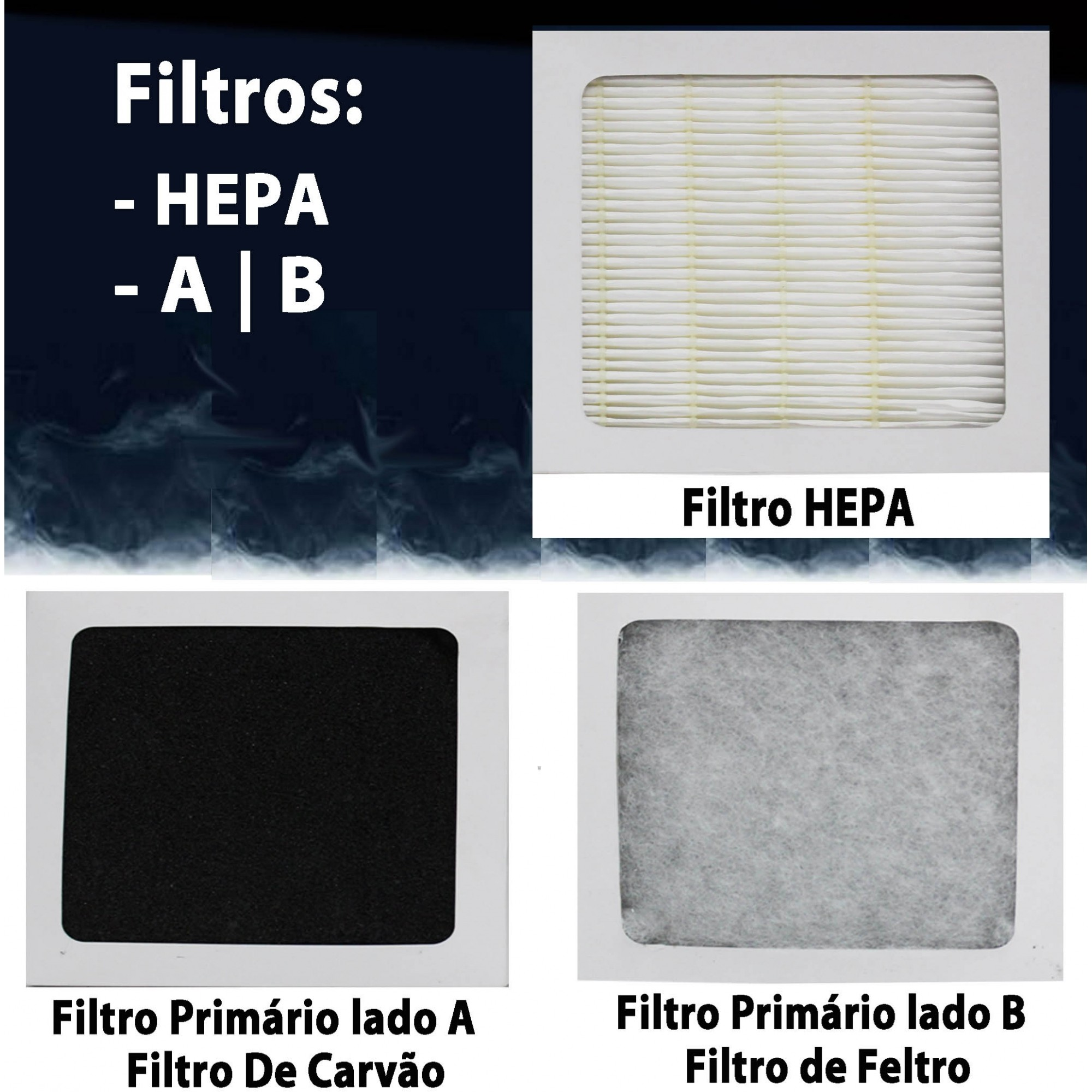 Kit 3 Filtro Purificador de Ar R28 PET