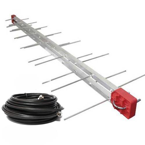 kit 4 Antena Digital 4K Externa Log 28 + 4 Cabo 10m