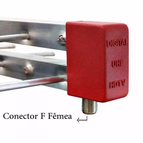 Kit Antena Digital 4K Externa Log 20 elementos Mastro 45 cm e Cabo Coaxial 20 metros