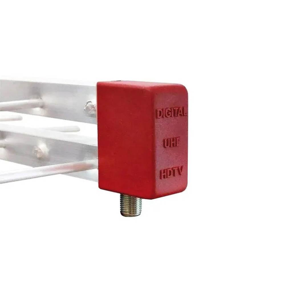 Kit Antena Digital 4K Log 20 Conversor DTV7000S, 12mt Cabo Coaxial c/ Conector  4K