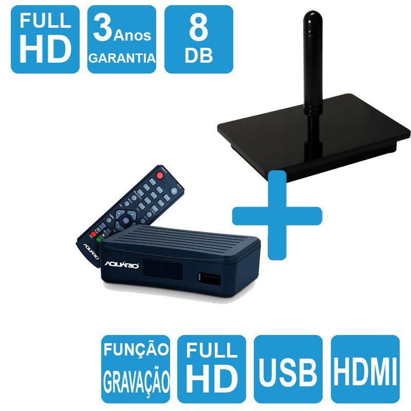 Kit Antena Digital Onix e Conversor Gravador DTV-4000 HDMI Capte
