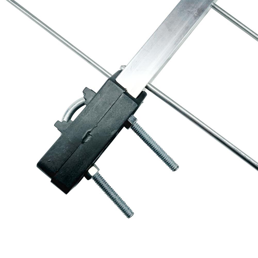 Kit Antena UHF Digital Log 28 Elementos Pdi com Mastro 45cm e Cabo 12m
