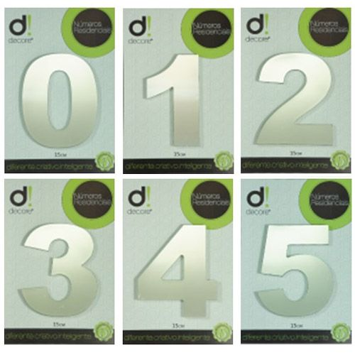 Número em alumínio Espelhado Polido Residencial N 1 15cm