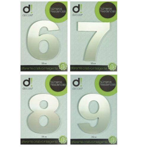 Número em aluminio Espelhado Polido Residencial N 6 15cm