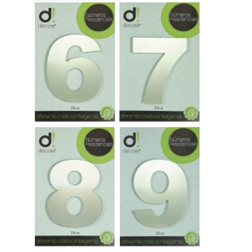 Número em alumínio Espelhado Polido Residencial N 9 15cm