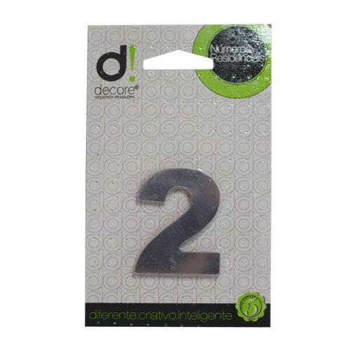 Número Alumínio Espelhado (Apto) 5cm - 2