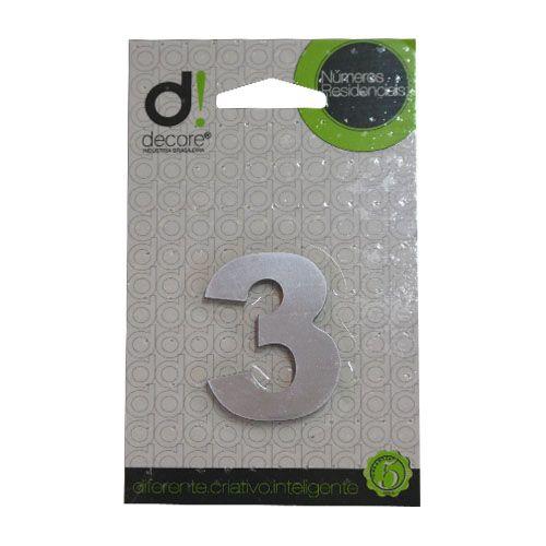 Número Alumínio Espelhado (Apto) 5cm - 3