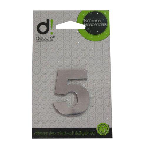 Número Alumínio Espelhado (Apto) 5cm - 5