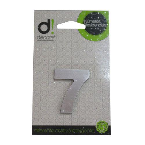 Número Alumínio Espelhado (Apto) 5cm - 7