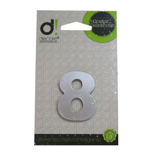 Número Alumínio Espelhado (Apto) 5cm - 8