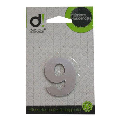Número Alumínio Espelhado (Apto) 5cm - 9