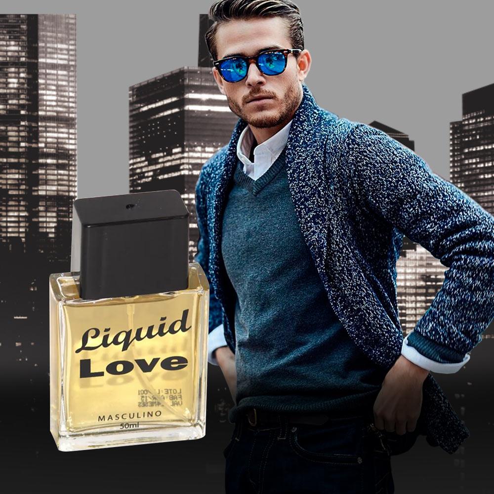 Perfume Liquid Love Man + Brinde Livro Guia dos Signos de João Bidu